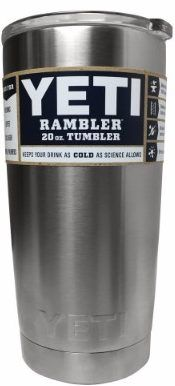 #8 YETI Rambler 20 oz Stainless Steel Vacuum Insulated Tumbler with Lid