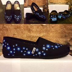 ✨HP 3/27✨ Evil Eye Wave (black)- hand painted TOMS Price reflects Poshmark commission! BNWT hand painted (by me) TOMS. Choose your size. Takes 1-2 weeks to ship. Feel free to ask questions!! I love custom orders! Price includes cost of shoe plus time to complete. Please see my site listed on my Profile. :) TOMS Shoes Flats & Loafers
