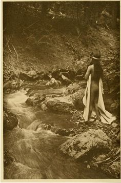 """Edward S. Curtis (American, 1868 - 1952). """"The Maid of Dreams"""". Vintage photogravure. c1909."""