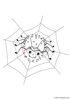 Halloween Connect the Dots Free Printables Spider