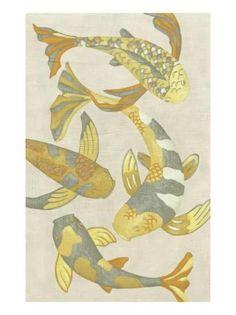 Golden Koi II Art Print by Chariklia Zarris at Art.com