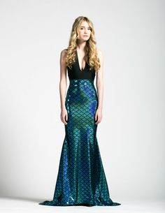 Mermaid Tail Maxi Skirt Caribbean Turquoise by AliciaZenobia