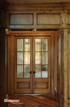 506 | shown in knotty alder with seedy baroque glass - View Door Detail - Print/Share