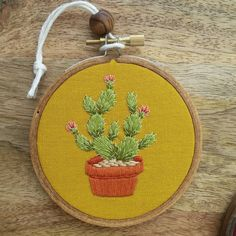 Out of all the many cactus variations I have made...this one is my favorite 😍 Those pink flowers against that mustard 👌 #embroidery #embroideryart #embroideryhoopart #cacti #cactus #cactuslover #walldecor #fiberart #bohodecor #handmade #stitch #needleandthread #textileart #colorful #dmcthreads #handstitched #natureart #cactusart #southwestern #embroideryartistsoninstagram #handmadelove