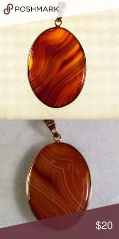 "HPPolished Amber Pendant Fashion Favorites Host PickPolished natural stone pendant. Each side is different. Any chips or cuts is a feature of the stone and not a defect. Blended shades of yellow, brown and orange. Size is approximately 2.5"" H x 1.5"" L Please ask if you have questions. Jewelry Necklaces"