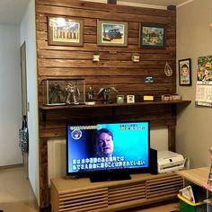 たな/たなDIY/テレビまわり/テレビ/テレビボード/ハワイアンインテリア…などのインテリア実例 - 2016-07-27 21:23:40 | RoomClip(ルームクリップ)
