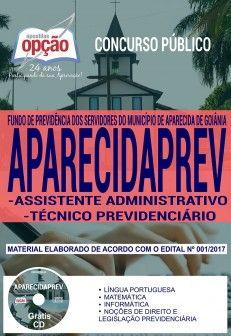 Promoção -  Apostila Concurso APARECIDAPREV 2018 - ASSISTENTE ADMINISTRATIVO E TÉCNICO PREVIDENCIÁRIO  #concursos