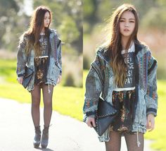 Chloe T - Poppylovers Top, Romwe Denim Jacket, Poppylovers Skirt - Rawr