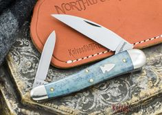 Northwoods Knives: Willamette Whittler - Blue Camel Bone - #23
