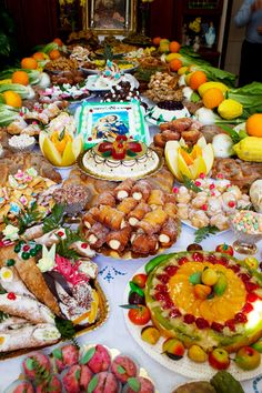 Sicilian dessert buffet. Every kind of Sicilian sweet imaginable ~ delicious and beautiful!