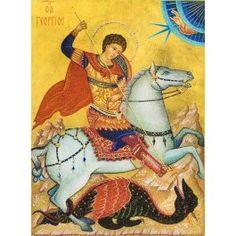 St George the Victory-Bearer, $970.00, Catalog of St. Elisabeth Convent. http://catalog.obitel-minsk.com/stone-workshop #CatalogOfGoodDeed #handmade #buy #order #art #decoration #craft #icon #church #george