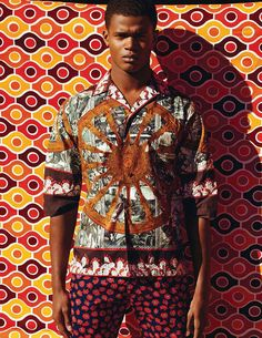 O'Shea Robertson photographed by Daniela Riera for GQ style Germany S/S 2013 African Inspired Fashion, African Print Fashion, Fashion Prints, African Prints, Ankara Fashion, Fashion Moda, Urban Fashion, Mens Fashion, Gq Style