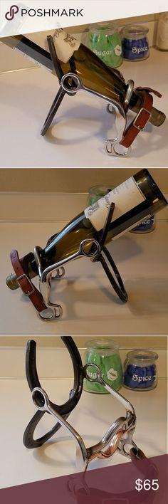 Horseshoe and bit wine bottle display Horseshoe and bit wine bottle display Spoon Me Baby Designs Other