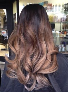 Chocolate ombré balayage.