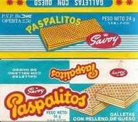 Paspalitos era como una Susy pero de queso, muy rica y existió hasta principios de los 80's