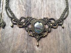Micro macrame necklace tiara Rainbow от MariposaMacrame на Etsy