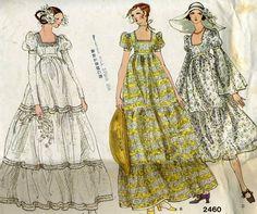 Vintage Vogue 2460 mariée bohème et patron de couture Robe demoiselle d