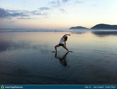 #Yoga Poses Around the World: Reverse Warrior Pose taken in Jaco beach, Costa Rica by Indy G.