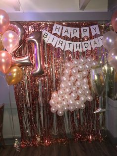 Excellent Photos Birthday Decorations Popular Frothy pastel desserts, colourful images, balloons along with ribbons. Fun-filled schoolhouse vibe in addition to wistfu 21st Bday Ideas, 21st Birthday Decorations, 21st Birthday Cakes, 18th Birthday Party, Birthday Party For Teens, Happy Birthday Banners, Birthday Party Themes, 21st Birthday Ideas For Girls Turning 21, Hotel Birthday Parties