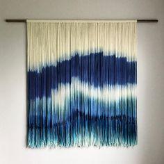 CUSTOM ORDER Medium Dip Dyed Tapestry Fiber Art