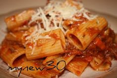 Deep South Dish: Leftover Brisket Meat Sauce with Rigatoni