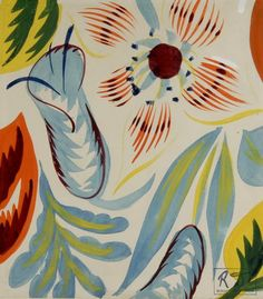 1930: Raoul Dufy, Composition with Flowers, ca. 1920