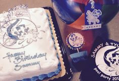 Castle Crasher party- pool party with cake, cupcake pick, beach ball favor tag & t-shirt.  With the Silhoutte
