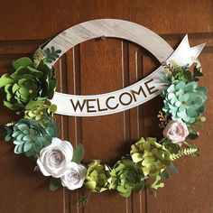 This DIY Succulent CTMH Welcome Home Wreath kit is super easy to create with pre-cut pieces that you can simply pop out. You can make it simple or take extra steps to curl leaves, colour flowers or even add some sparkle. Add some extra flowers or Succulents from the Close To My Heart Flower Market Cricut cartridge to really bling it out. Purchase it or earn it FREE see more here www.maz.closetomyheart.com.au #papercraftingmonth #succulentwreath #ctmhwelcomehome #nationalpapercraftingmonth