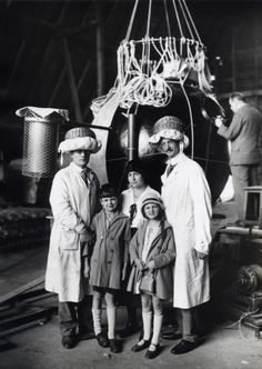 I don't understand why they're wearing cushions and upside-down baskets on their heads, that doesn't seem like an effective helmet -- Auguste Piccard with the Capsule of his Stratospheric Balloon 1