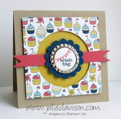 Julie's Stamping Spot -- Stampin' Up! Project Ideas Posted Daily: Smashed Soda Pop Tops: Wish Big Card