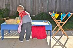 a laundry themed play date, soapy water play, fine motor with clothespins, a good life skills event!
