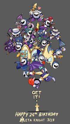 Happy Birthday Meta Knight by TrippingOverStars on DeviantArt Kirby Nintendo, Kirby Memes, Happy 25th Birthday, Kirby Character, Meta Knight, Cool Sketches, Video Game Art, Cute Art, Nerd