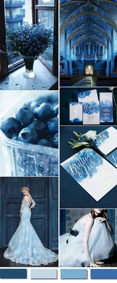 mystic vintage church wedding colors in shades of blue for 2016