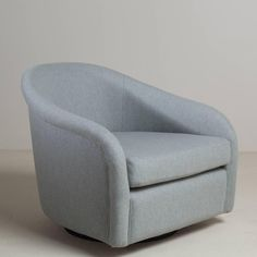 Large Pair of Wool Upholstered Swivel Chairs, 1970s 4