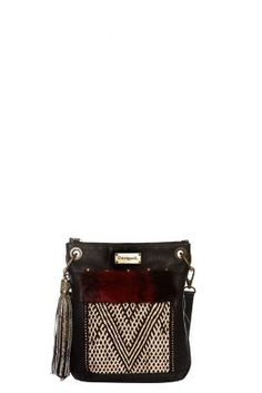 Desigual women's Bandolera Tribal bag. It features a very ethnic print and very soft, raised fur detailing. 100% Made with Love.
