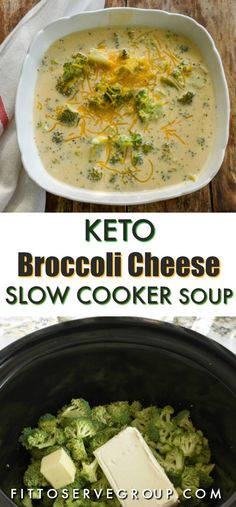 This Keto broccoli cheese slow cooker soup makes a hearty low in carbs soup. It … This Keto broccoli cheese slow cooker soup makes a hearty low in carbs soup. It is thickened only with cheese which makes it a great keto-friendly option. Crock Pot Recipes, Slow Cooker Recipes, Keto Crockpot Recipes, Crockpot Ideas, Chicken Recipes, Hamburger Recipes, Shrimp Recipes, Ketogenic Recipes, Low Carb Recipes