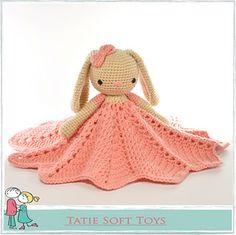 Crochet Amigurumi Rabbit Ideas Bunny Lovey Security Blanket Snuggle Comforter Crochet pattern by TatieSoftToys - Crochet Security Blanket, Crochet Lovey, Crochet Rabbit, Crochet Blanket Patterns, Cute Crochet, Baby Blanket Crochet, Crochet Dolls, Crochet Blankets, Crochet For Beginners Blanket