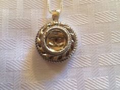 Silver Chanel necklace by Vswaggercouture on Etsy