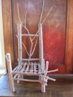 Twig Chairs - Similar to our Fairy Garden chairs, a more durable method of construction. Maybe they wouldn't break when a chickens sits on them?