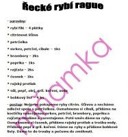 RECEPTY RYBY A DARY MOŘE | Mimibazar.cz Personalized Items