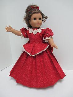 1870 Simply Elegant Cotton Dress With Detachable Basque Belt for Marie Grace