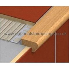 Wood Stair Nosing Step Edging For Tiles,Stone,Wood Wood Look Tile Stair  Finish