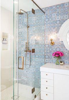 vintage azulejos ducha