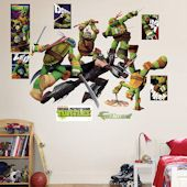 Show TMNT Wall Decals and Stickers! Teenage Mutant Ninja Turtle wall decor featuring Raphael, Donatello, Leonardo, and Michaelangelo Teenage Mutant Ninja Turtles, Tmnt, Wall Decals, Battle, Wall Stickers