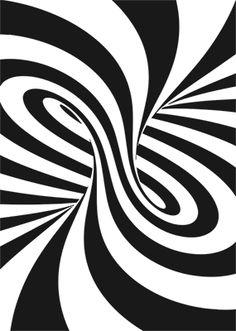 op-art (vector for sale here) Cool Optical Illusions, Art Optical, Illusion Drawings, Illusion Art, Op Art, Abstract Geometric Art, Stencil Art, Art Tutorials, Creative Art
