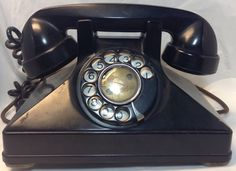Vintage Northern Electric Black Rotary Phone ~Telephone a Roulette ~ Cadran Noir