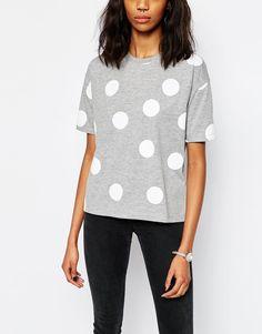 Image 3 ofASOS Oversized T-Shirt With Spot Print