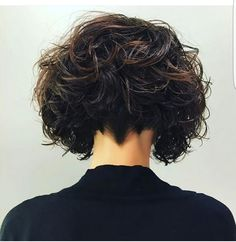 Super Short Curly Bob Side View A Bit Short But I Like