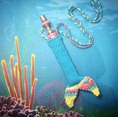 Turquoise&CottonCandy XL Mermaid Tail Sweater by VapeSweaters. #vapesweaters #etsy #knitting #knit #vape #vaporizer #case #lanyard #vapepen #necklace #oil #710 #cannabis #dabs #mermaidtail #mermaid #kangertech #subvod