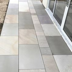 Raj Blend Smooth Sawn Patio Paving Pack- Coverage - inc VAT & FREE Nationwide Delivery* - Cheshire Sandstone Organic Plants, Organic Gardening, Back Gardens, Outdoor Gardens, Sandstone Paving, Sheds For Sale, Patio Tiles, Tomato Cages, Landscape Fabric